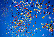 Colorful Latex Balloons Released