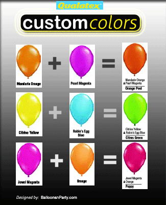 How To Create Custom Balloon Colors Balloons Party Decorations
