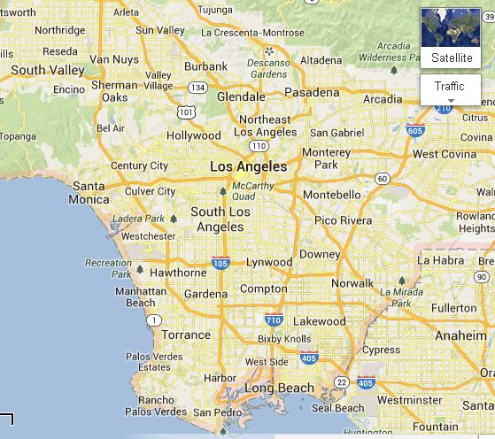 Map Of California La.Map Of Los Angeles Ca Balloons Party Decorations