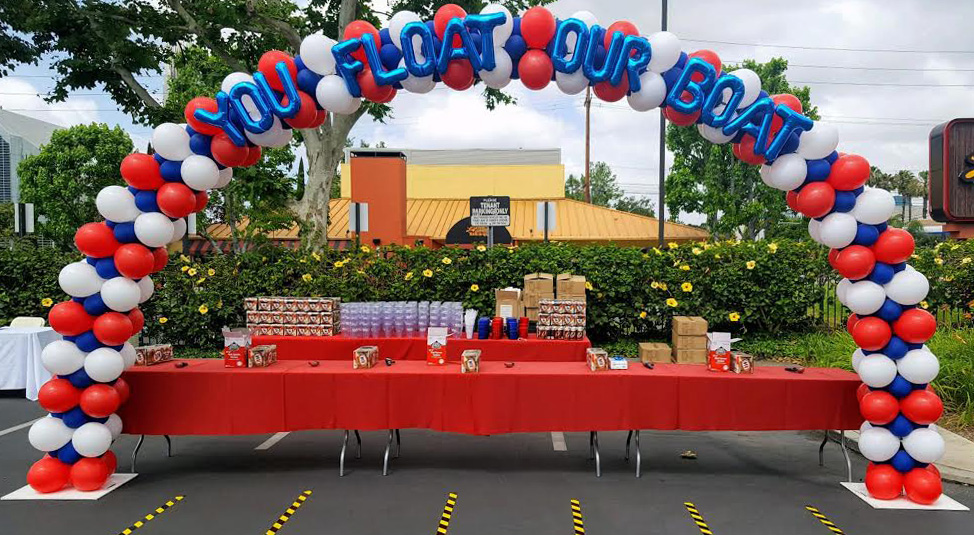 Patriotic You Float Our Boat Arch Balloons Party Decorations