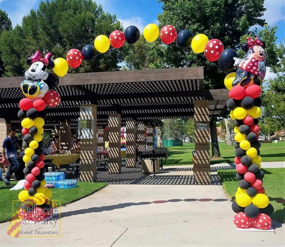 Minnie Mouse Columns Pearl Balloon Arch Balloons Party Decorations