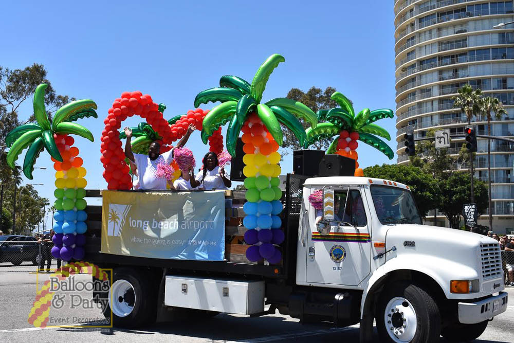 Long Beach Airport Pride Parade Float 2017 Balloons Party