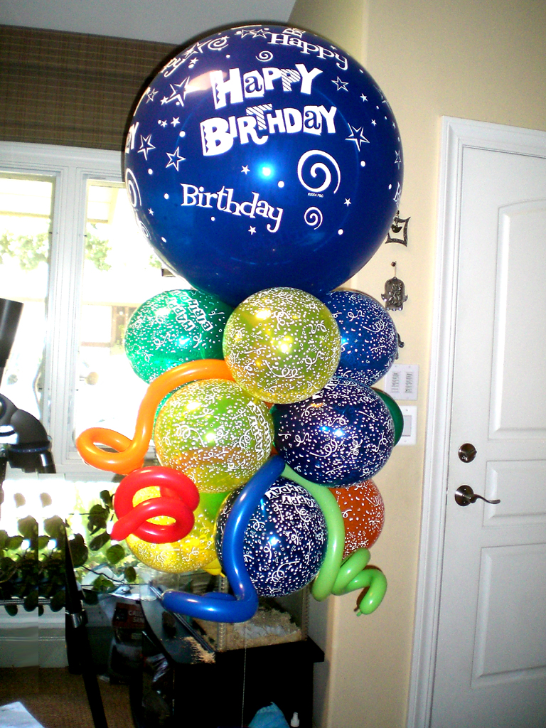 Birthday balloon bouquet ideas image inspiration of cake for Balloon decoration ideas for birthdays
