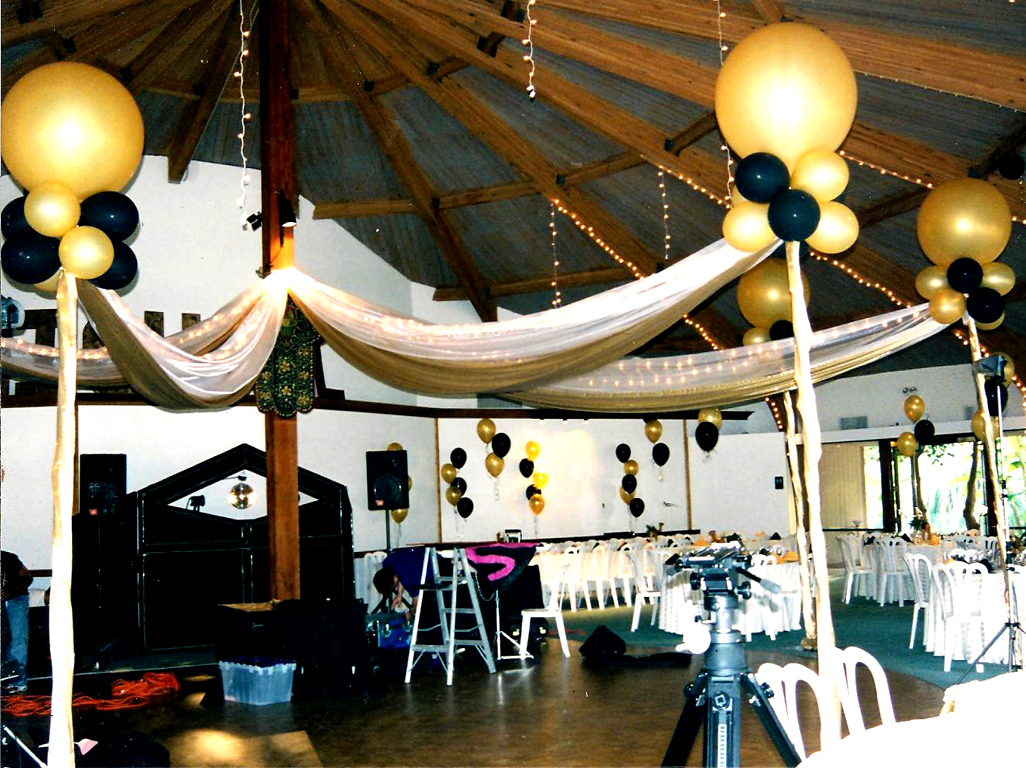 Fabric Swags with Lights Balloon Posts Canopy & Balloon Canopy Ideas - Balloons N Party Decorations Orange County