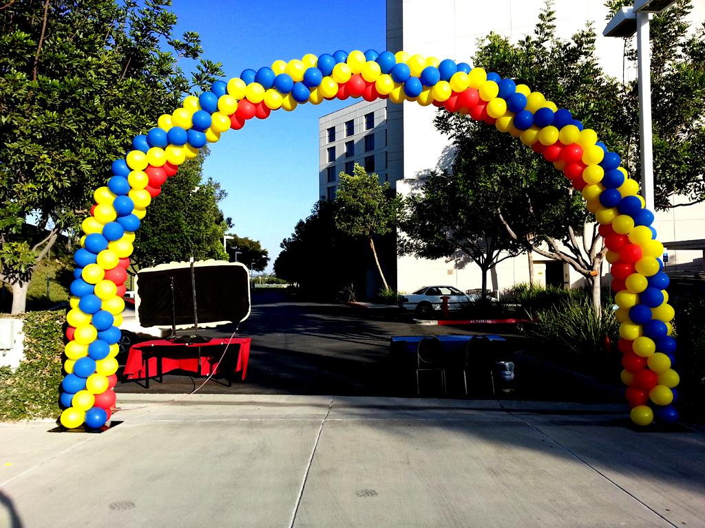 Balloon Ideas Photo Albums Arch Column Wedding