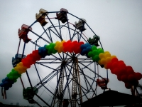 Stacked Rainbow Colors Balloon Arch