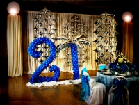 Balloon Backdrop 21 Party Star Salute