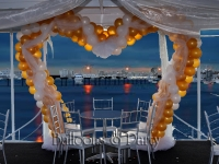 Balloon Wedding Heart Arch Backdrop on Yacht