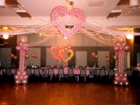 Tulle Swag Hanging Heart Balloon Canopy