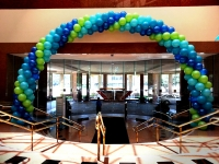 50 foot Balloon Arch with 16 inch balloons
