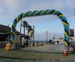 Spiral Balloon Arch on Truss