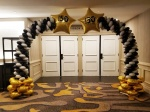 Shooting Star Foil Balloon Arch with Logo